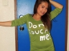01 - Nice and chubby Filipina poses in green shirt.
