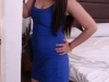 Sheree in blue dress