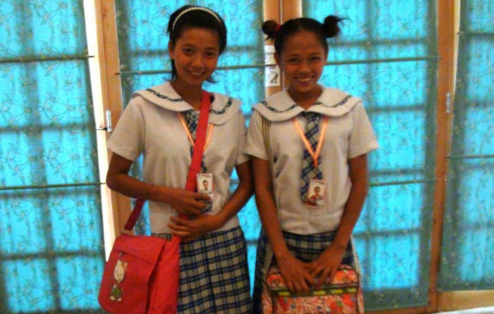 nice pigtailed schoolgirls in uniform, Nica and Sally, get ready to have their Filipina pussy holes fucked