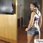 Natasha-Filipina Pussy takes off her daisy dukes