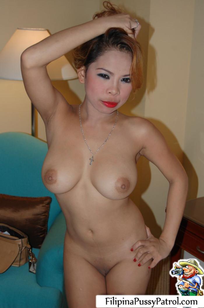 Naked slim granny