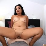 Thick Asian milf rides hard cock cowgirl style