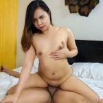 Beautiful small titty Asian girl rides a hard cock