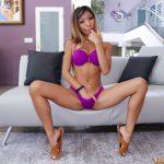 Horny Pinay puts her hand down her bikini bottom